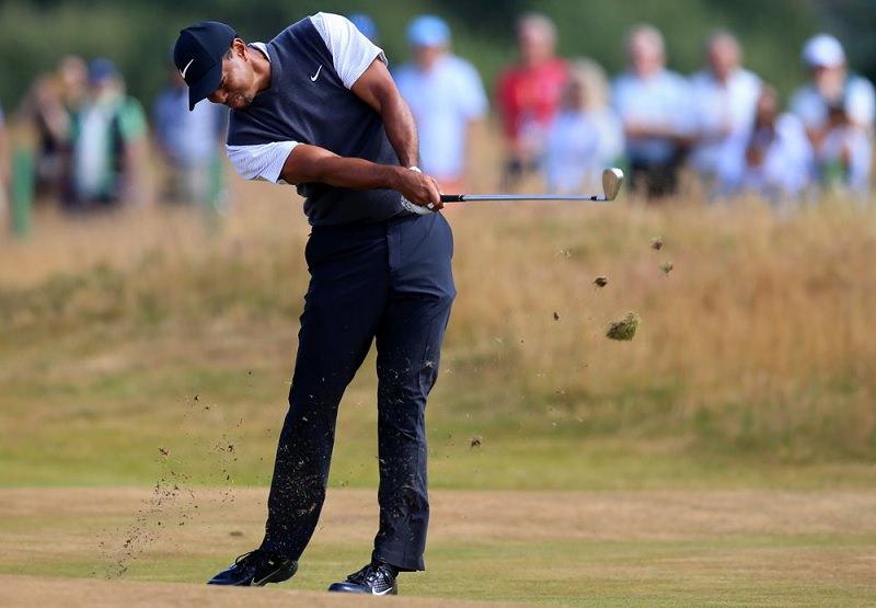 Des recherches démontreraient que Tiger Woods tourne la face du club à l'impact à près de 1000 degrés par seconde, ce qui serait en fait plus lent que la moyenne des golfeurs avec un index élevé.