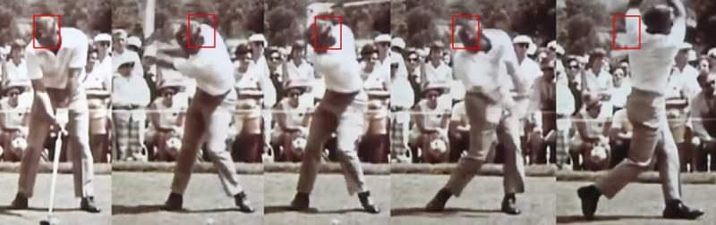Dernier swing illustré par Richmond, celui d'Arnold Palmer qui est un autre cas intéressant, car lui bouge dans tous les sens !