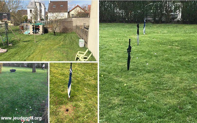 Golfer dans son jardin (Kit de pratique d'un golfeur confiné #2)