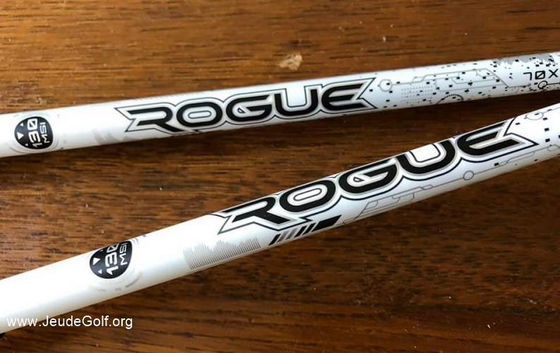 Test des manches Aldila Rogue White 130 M.S.I. 70 stiff versus Extra-stiff