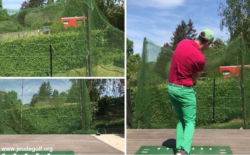S'entraîner plus efficacement seul face à un filet de golf
