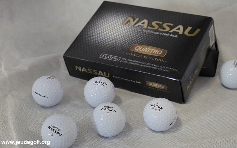 Test des balles de golf Nassau Quattro