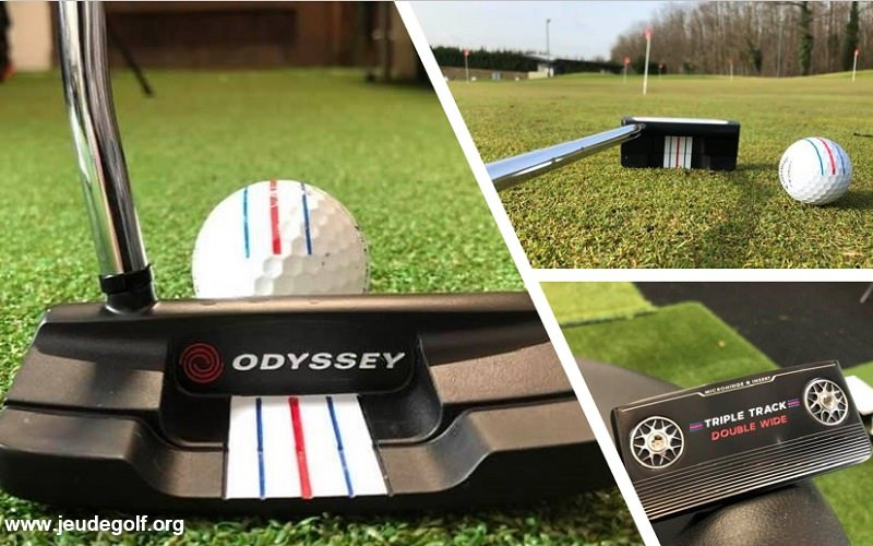 Test du putter Odyssey Triple Track Double Wide