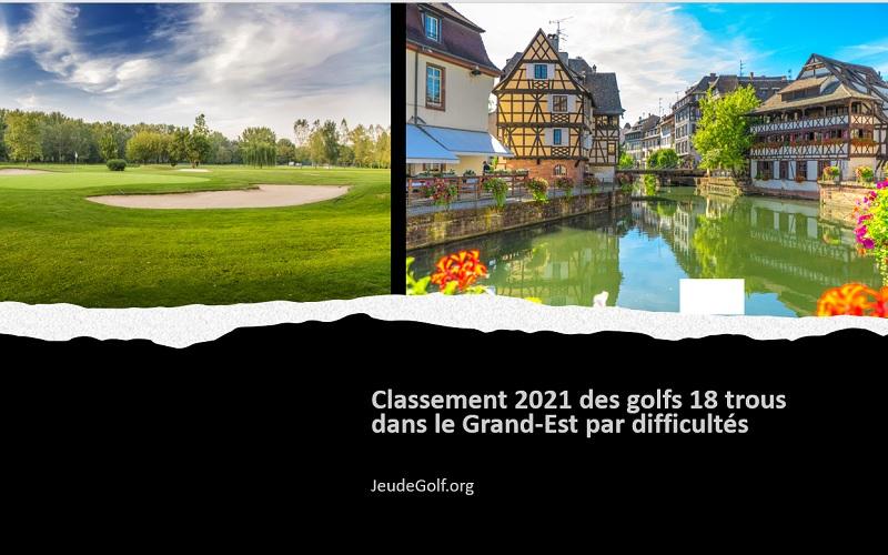 Classement 2021 des golfs 18 trous du Grand Est par difficultés