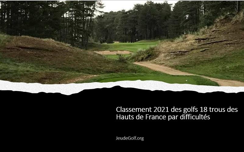 Classement 2021 des golfs 18 trous des Hauts De France par difficultés