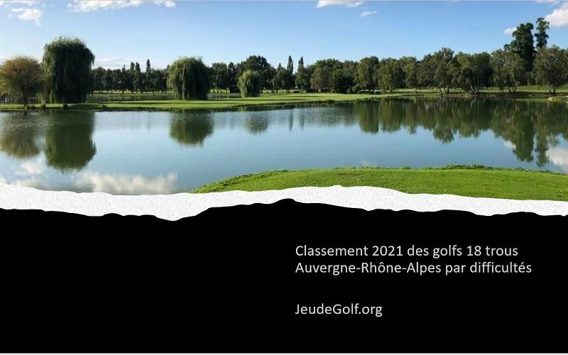 Classement 2021 des golfs 18 trous Auvergne-Rhône-Alpes par difficultés