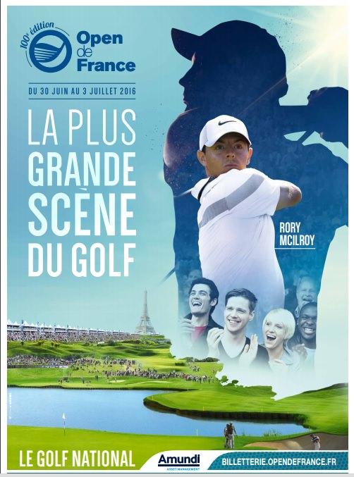 Affiche 2016 de l'Open de France de golf