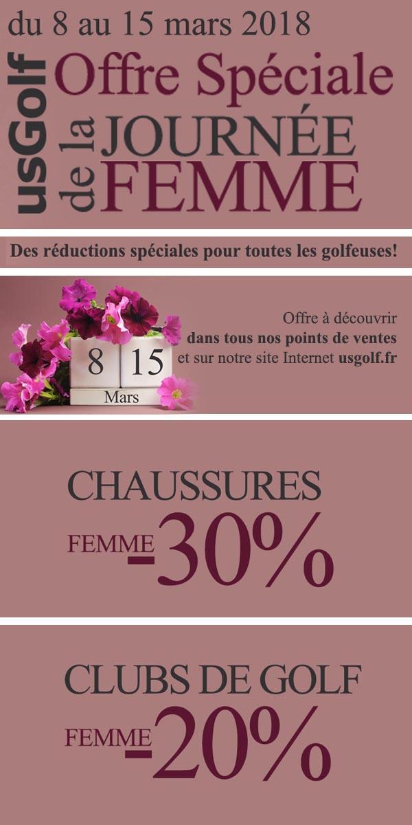 Offre spéciale journée de la femme par usgolf.fr