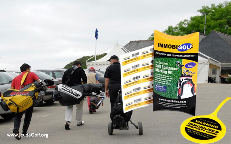 Immobigolf vise à bloquer le marché des clubs de golf volés