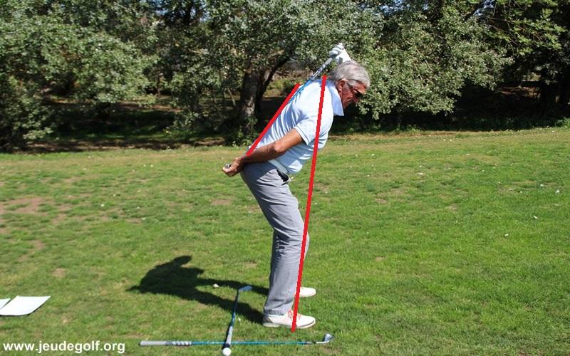 De cette position, vous pouvez démarrer votre rotation de downswing, puis compléter la rotation jusqu'à ce que vous retrouviez dans la position exactement inverse, mais tout en ayant simplement maintenu les mêmes angles.