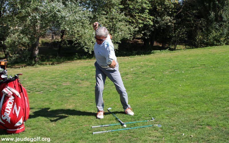 Pour un droitier, l'épaule gauche doit se retrouver nettement sous l'épaule droite.