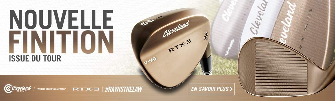 Nouvelle finition issue du tour pour les wedges RTX 3