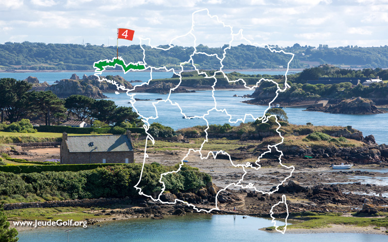 La route des golfs par les côtes. N°4 La Bretagne Nord
