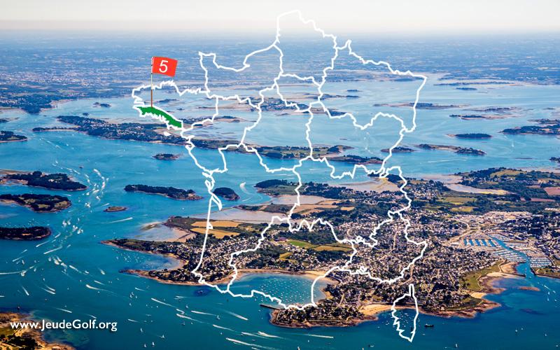 La route des golfs par les côtes. N°5 La Bretagne Sud