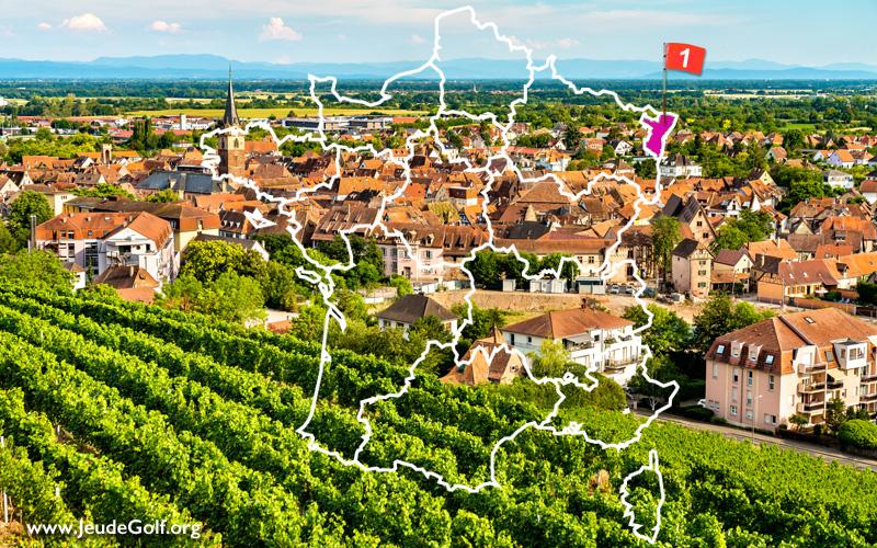 La route des golfs par les vignobles. N°1 Alsace, Bas-Rhin