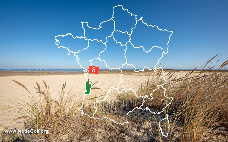 La route des golfs par les côtes. N°8 Nouvelle Aquitaine, La Gironde