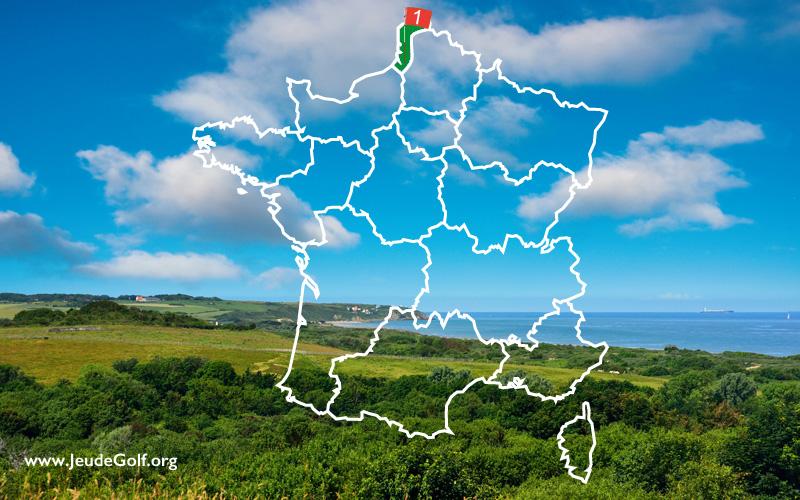 La route des golfs en France par les côtes. N°1 La Côte d'Opale