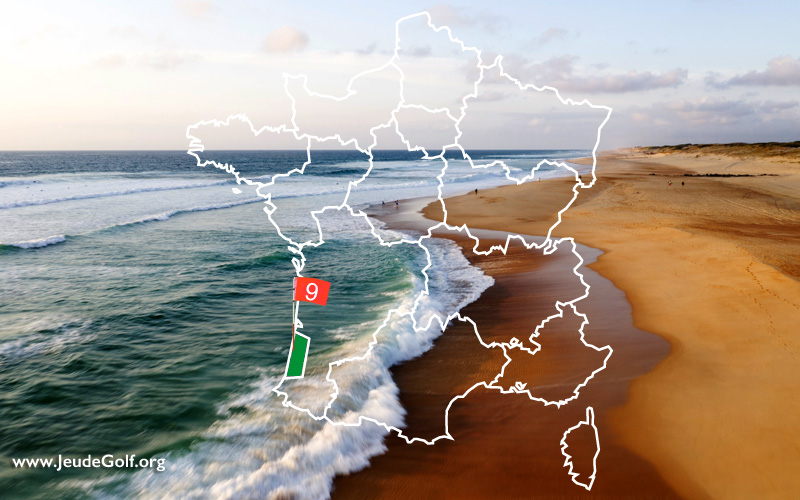 La route des golfs par les côtes. N°9 Nouvelle Aquitaine, Les Landes