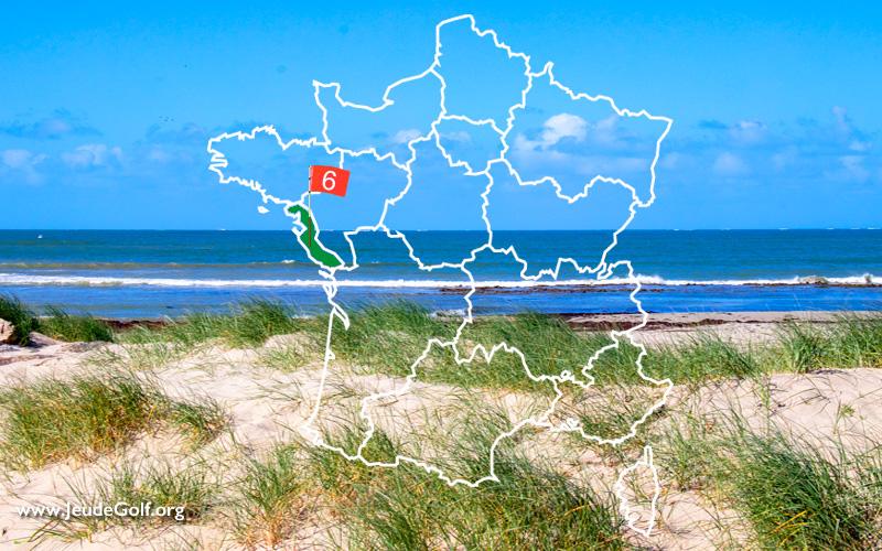 La route des golfs par les côtes. N°6 Pays de la Loire