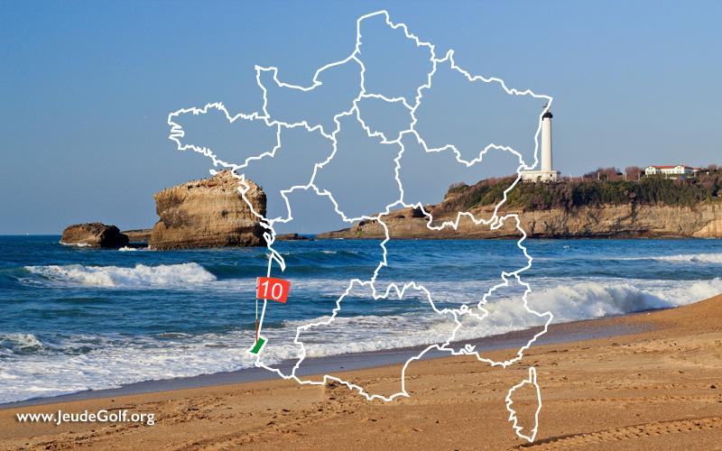 La route des golfs par les côtes. N°10 Pyrénées Atlantique, Pays Basque