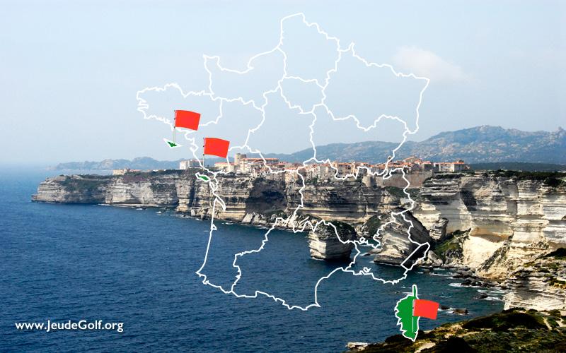 La route des golfs par les côtes. N°14 Les Îles, de Belle Île à la Corse, en passant par l'Île de Ré