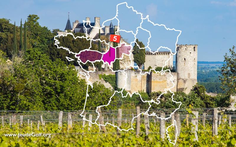 La route des golfs par les vignobles. N°5 Vallée de la Loire, Anjou-Saumur-Touraine