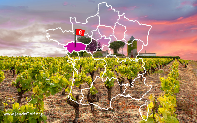La route des golfs par les vignobles. N°6 Vallée de la Loire, Pays Nantais