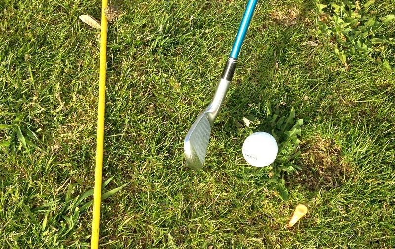 S'entrainer sur un practice sur herbe