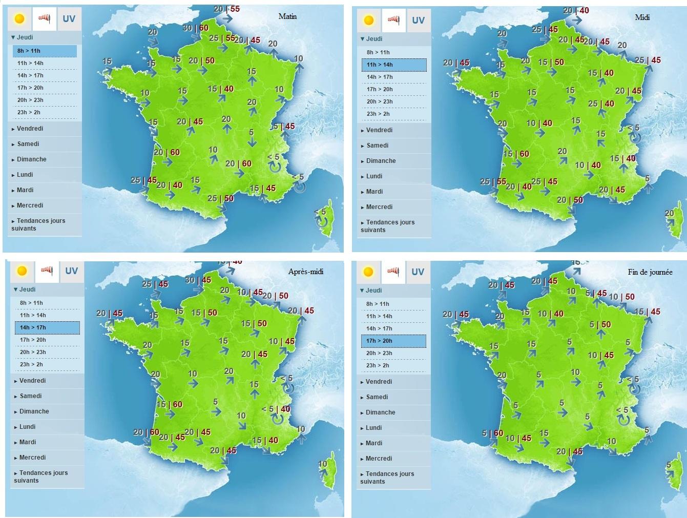 Carte météo France du 17 septembre 2015