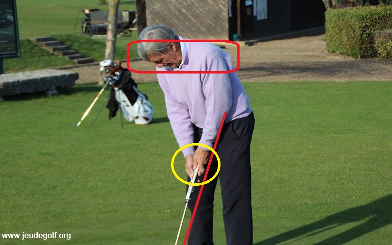 Vous devez aussi être certain que vos mains sont bien en-dessous de vos épaules dans votre set-up, une fois prêt à taper votre balle !