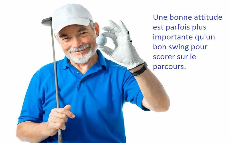 La recherche démontre qu'au golf, il faut rester positif !