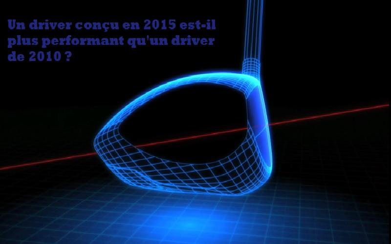 Etude sur le matériel de golf et la progression des drivers sur 4 ans