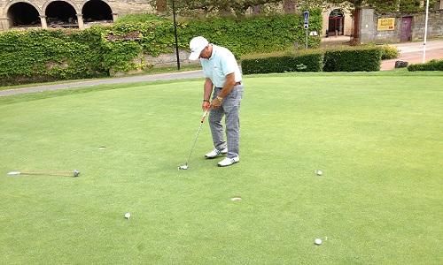 rentrer les petits putts - exercice de golf