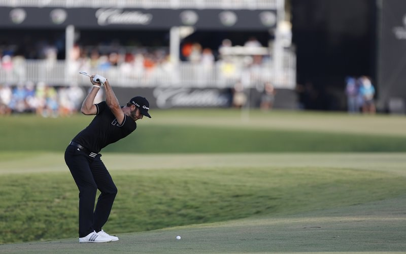 Le swing anti-slice de Dustin Johnson - Crédit Photo : Mark Newcombe