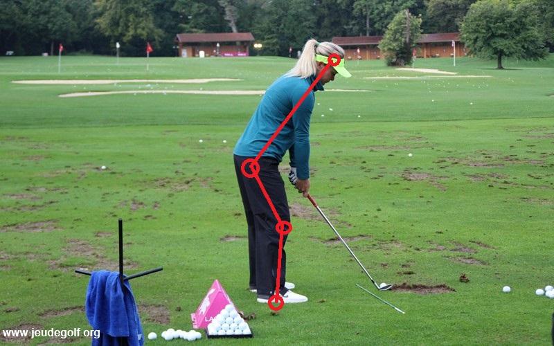 Comme pour beaucoup de bons golfeurs, son objectif est de pouvoir parfaitement tourner autour de son axe vertébral.
