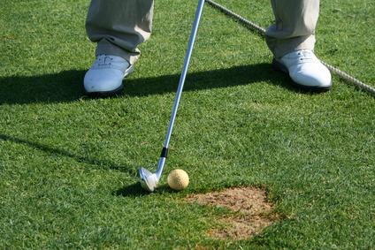 Comment sortir d'un divot sur le parcours de golf ?