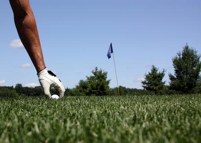Avoir un bon lie sur un terrain de golf