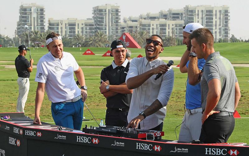 Tyrrell Hatton, Crédit Photo : Abu Dhabi HSBC Championship, Getty ImagesDJ Reggie Yates