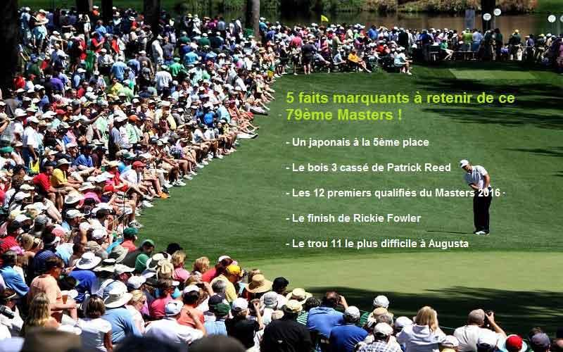 5 faits marquants du 79ème Masters d'Augusta