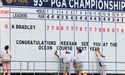 Keegan Bradley remporte le 93ème PGA Championship à Atlanta au terme d'un play-off