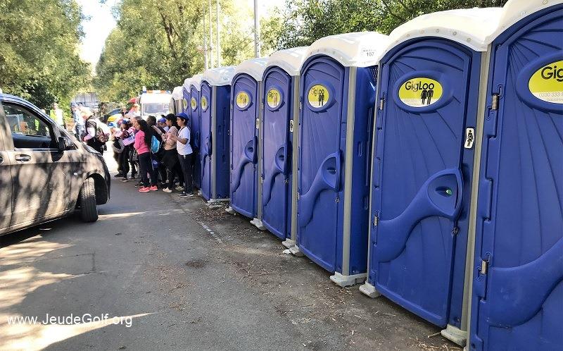 Pour ce jour d'entraînement, l'état des WC est encore d'un niveau acceptable.