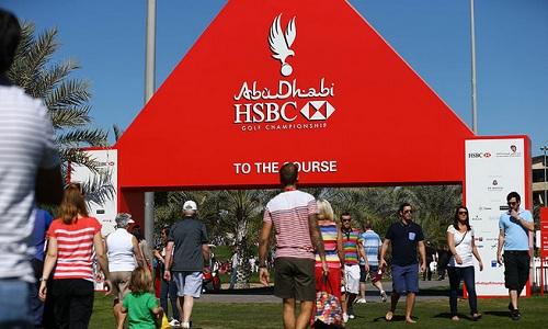 Les grands débuts de la saison 2014 de golf à Abu Dhabi