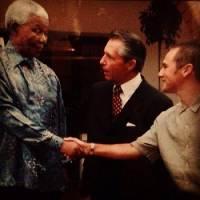 Madiba en compagnie de Gary Player et Trevor Immelman