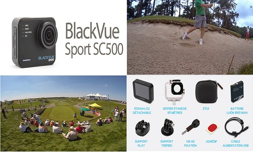 Test de la camera Pittasoft BlackVue Sport SC500 pour le golf