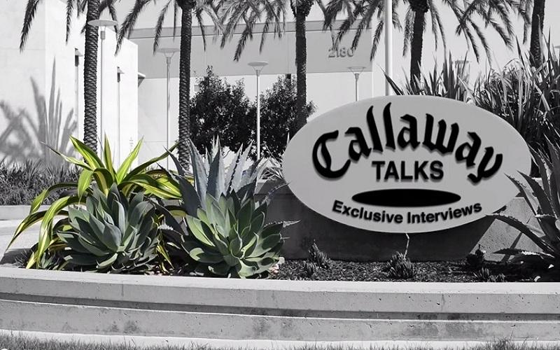 Ecran d'accueil de la chaîne Callaway Golf