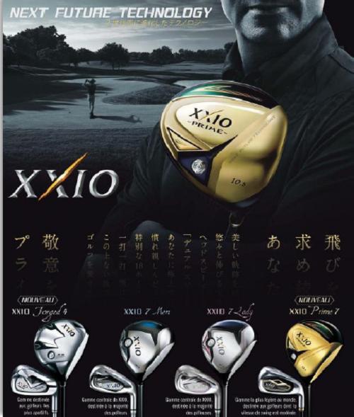 La présentation des clubs de golf XXIO7