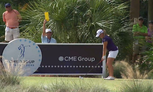 Stacy Lewis au départ du CME Group Titleholders