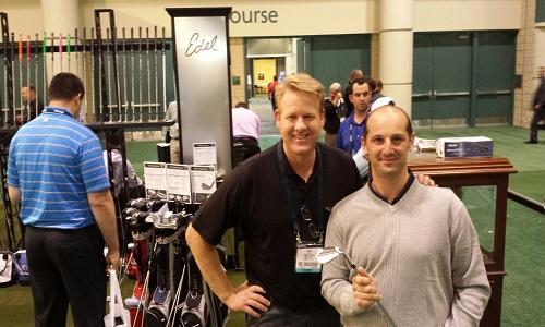A gauche, David Edel en compagnie d'Alexandre d'Incau (à droite), notre envoyé spécial à Orlando