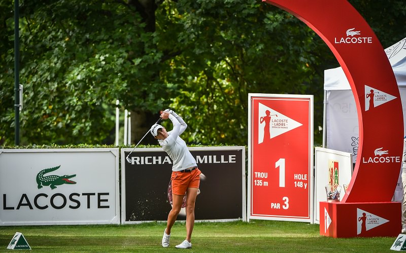 Justine Dreher en confiance à Chantaco - Crédit photo : Lacoste Open de France