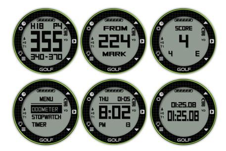 Ecrans de la montre de golf Skycaddie